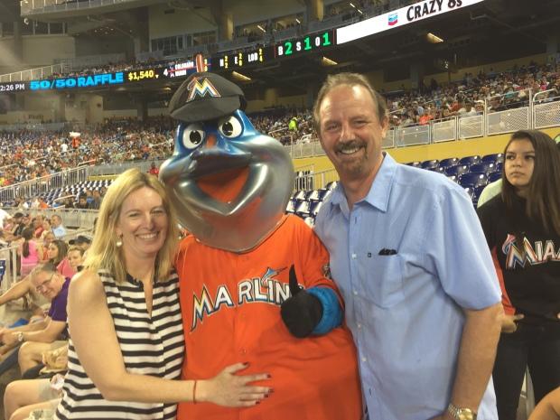 Kelly Hyman and Paul Hyman - Marlins Mascot